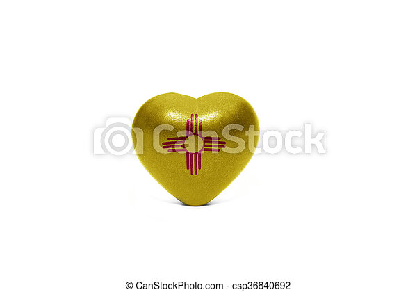 heart with flag of new mexico state - csp36840692