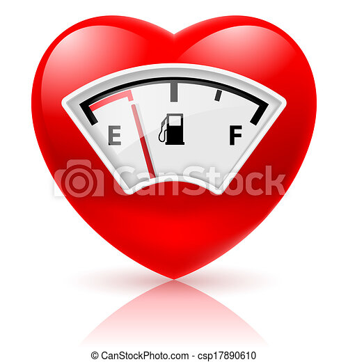 Heart with fuel indicator - csp17890610