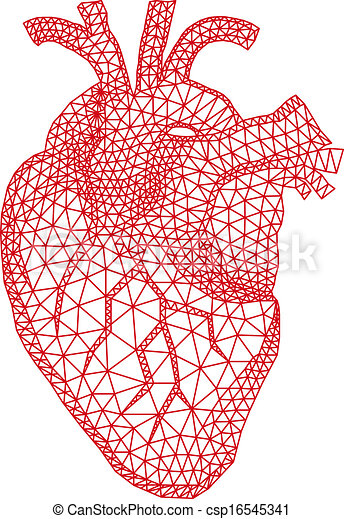 heart with geometric pattern, vecto - csp16545341