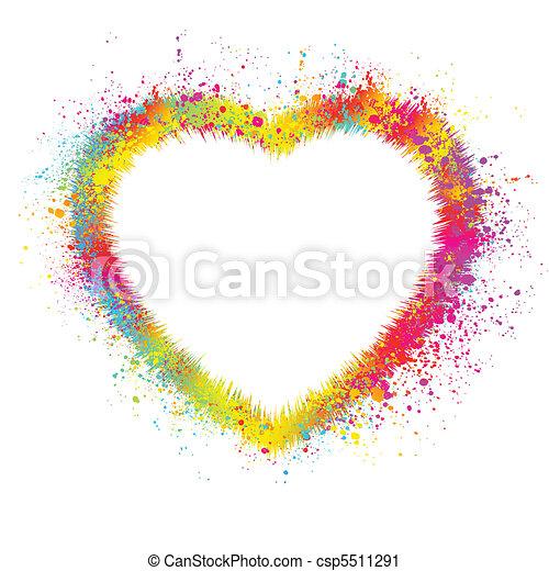 Heart with grunge background. EPS 8 - csp5511291
