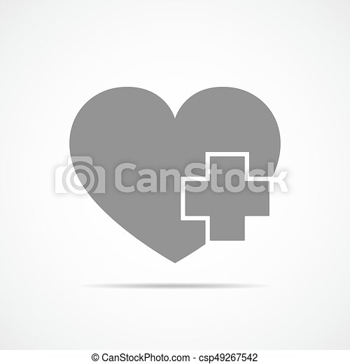 Heart With Medical Cross Vector Illustration Medical Cross And