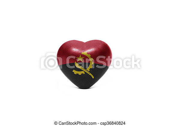 heart with national flag of angola - csp36840824