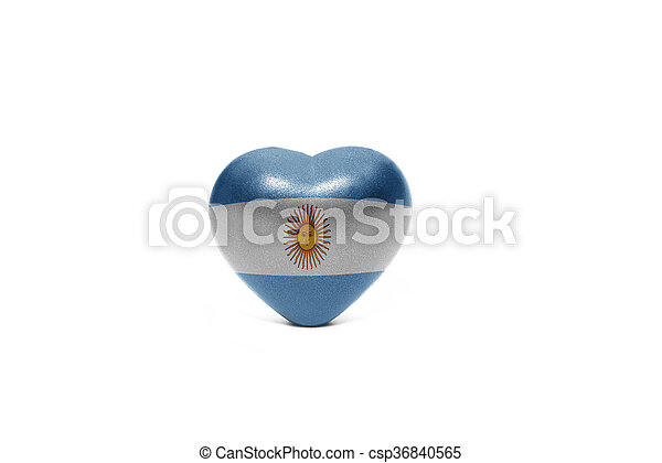 heart with national flag of argentina - csp36840565