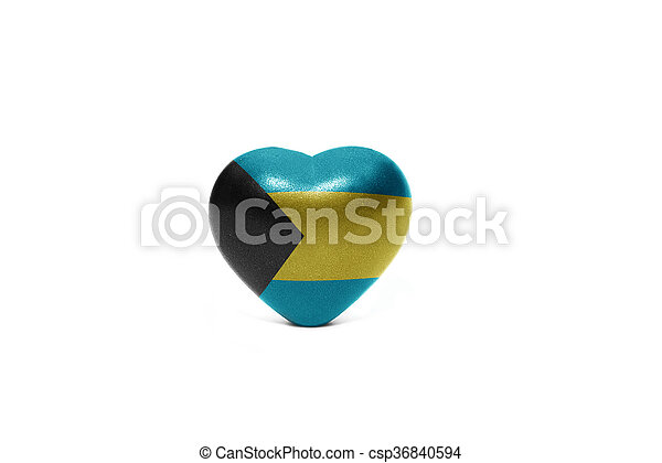 heart with national flag of bahamas - csp36840594