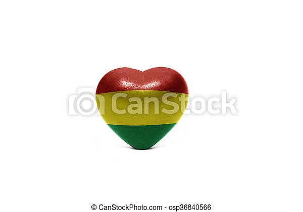 heart with national flag of bolivia - csp36840566