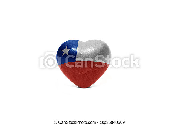 heart with national flag of chile - csp36840569