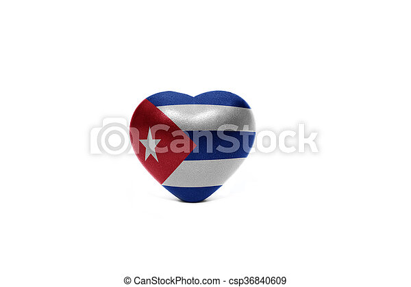 heart with national flag of cuba - csp36840609