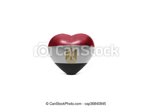 heart with national flag of egypt - csp36840845