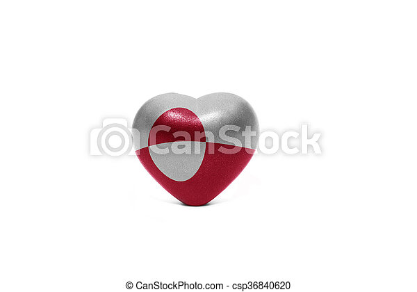 heart with national flag of greenland - csp36840620