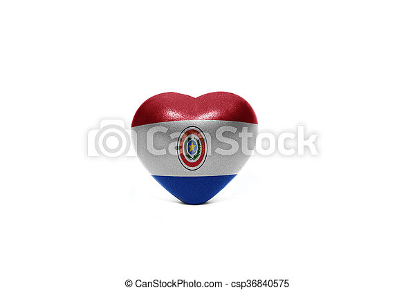 heart with national flag of paraguay - csp36840575