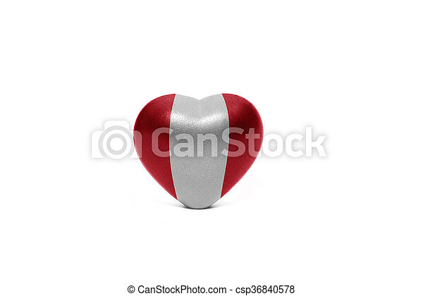 heart with national flag of peru - csp36840578