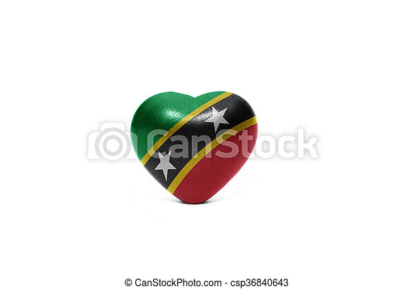 heart with national flag of saint kitts and nevis - csp36840643