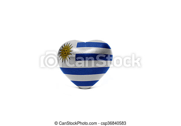 heart with national flag of uruguay - csp36840583