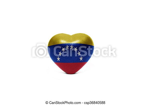 heart with national flag of venezuela - csp36840588