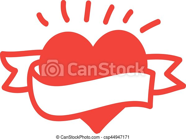 heart with ribbon vector vectors illustration search clipart rh canstockphoto com heart vector download heart vector free