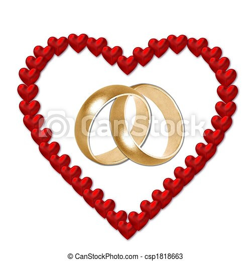red heart with wedding bands drawings search clipart illustration rh canstockphoto com clipart mariage noir et blanc clipart mariage champetre gratuit