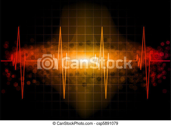 Heartbeat Line Art : Heartbeat heart beat monitor in the dark eps vectors search