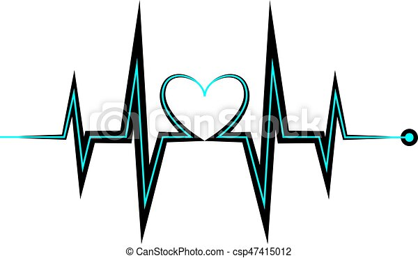 heartbeat icon electrocardiogram ecg or ekg isolated on vector rh canstockphoto ca heartbeat clipart free heartbeat clipart free