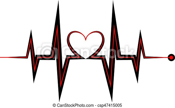 heartbeat icon electrocardiogram ecg or ekg isolated on vector rh canstockphoto com ekg machine clipart heart ekg clipart