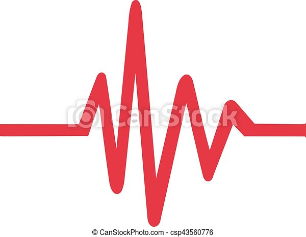 Heartbeat Line Art : Heartbeat icon vectors illustration search clipart drawings