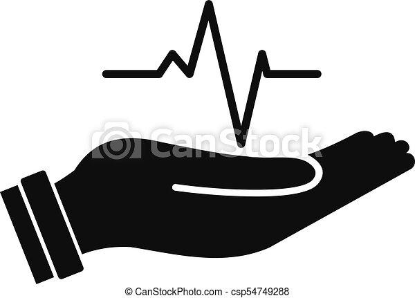 Heartbeat Line Art : Heartbeat icon simple style illustration
