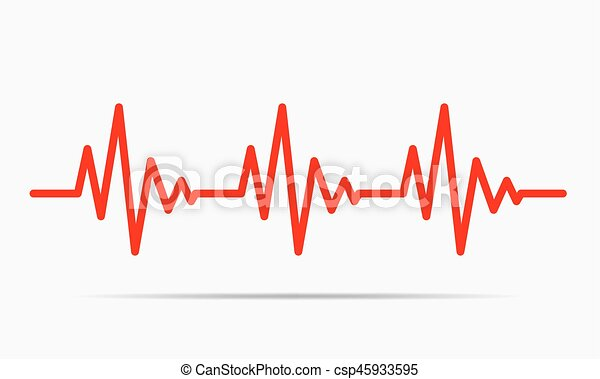 heartbeat icon vector illustration red heartbeat icon eps rh canstockphoto com heartbeat clipart vector heartbeat clipart images