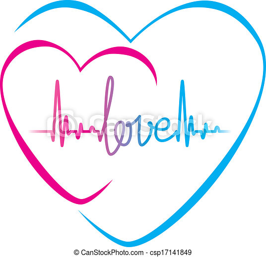 Heartbeat Love Text And Heart Symbol Heartbeat With Love Text And