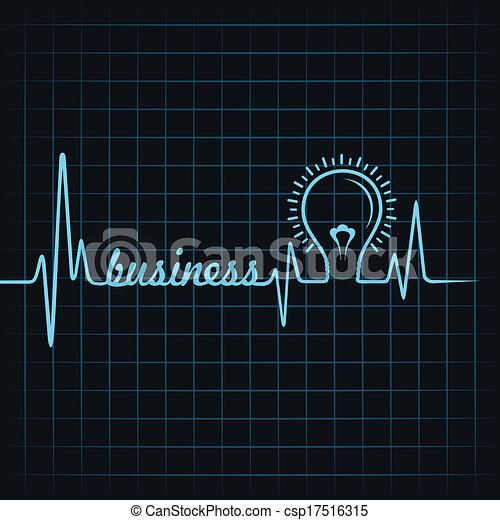 heartbeat make business word & bulb - csp17516315