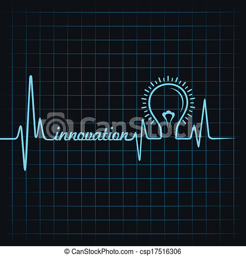 heartbeat make innovation word  - csp17516306