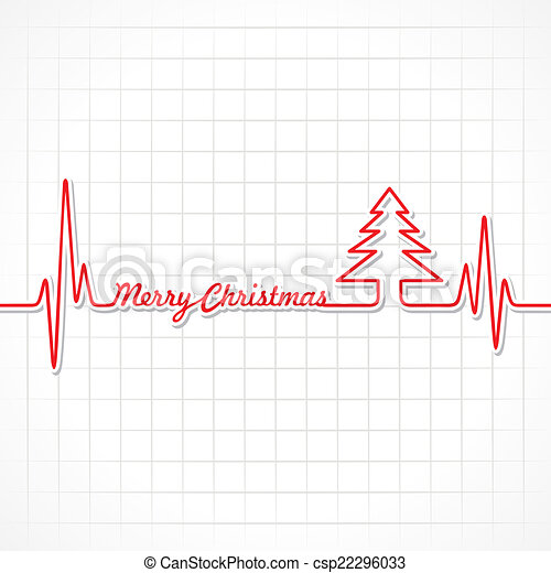 Heartbeat make Merry Christmas text - csp22296033