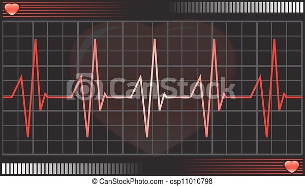 Heartbeat Line Art : Heartbeat monitor illustration vector eps
