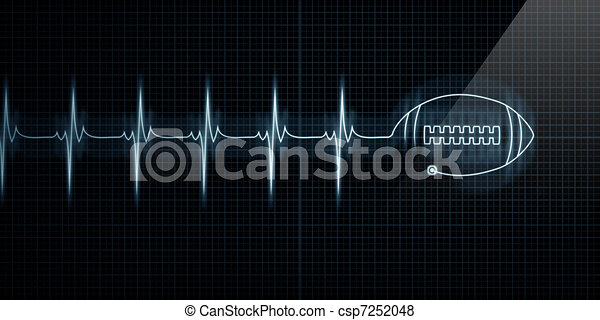 Heartbeat Monitor with football - csp7252048