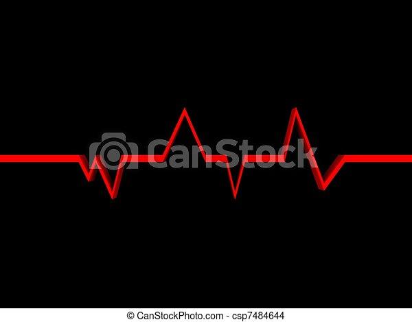 Heartbeat Line Art : Heartbeat on a black background drawing search clip art