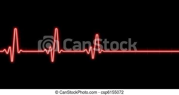 Heartbeat Line Art : Heartbeat on black background clip art search illustration