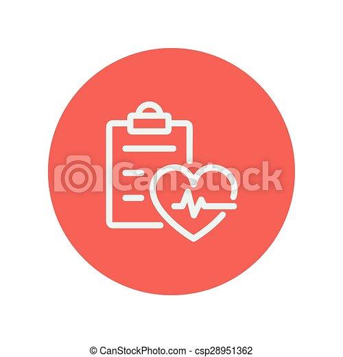 Heartbeat record thin line icon - csp28951362