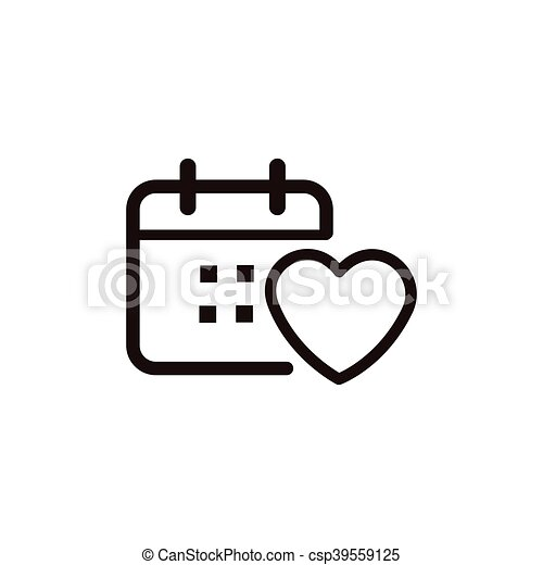 heartbeat thin line icon - csp39559125