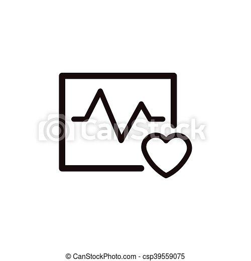 heartbeat thin line icon - csp39559075