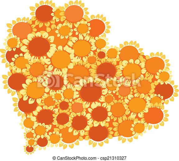hearth of sunflowers - csp21310327