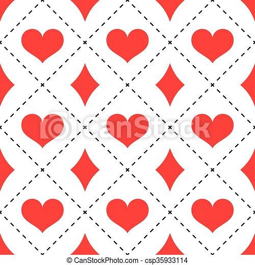 hearts and diamonds pattern red hearts and diamonds seamless pattern