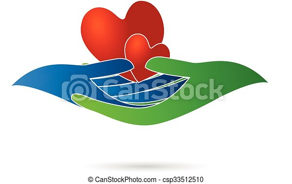 Hearts and hands logo - csp33512510