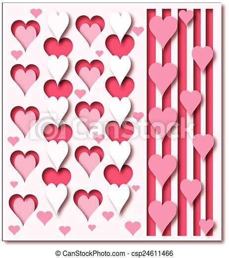hearts background - csp24611466