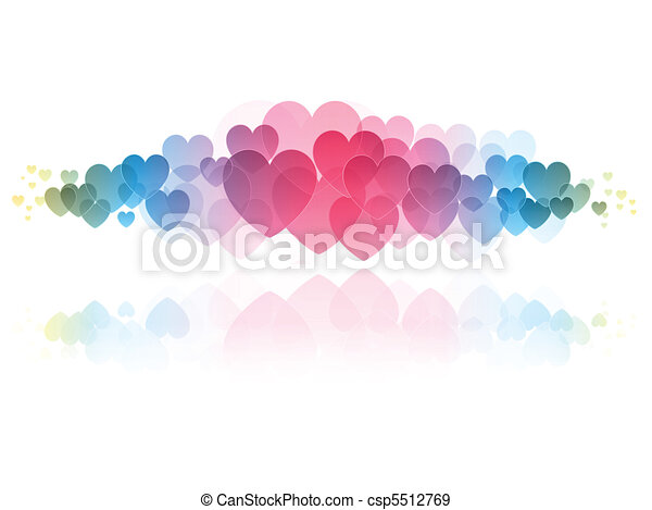 Clip Art Line Of Hearts : Hearts background decorative of in eps