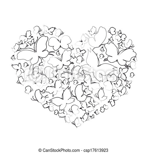 hearts design - csp17613923
