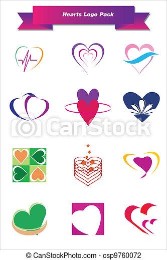 Hearts Logo Pack - csp9760072