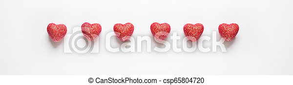 Hearts on white background. - csp65804720