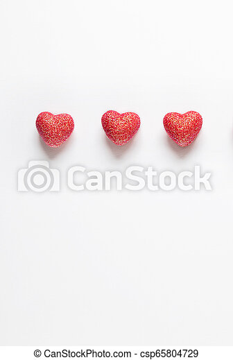 Hearts on white background. - csp65804729