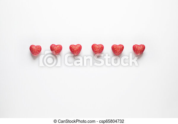 Hearts on white background. - csp65804732
