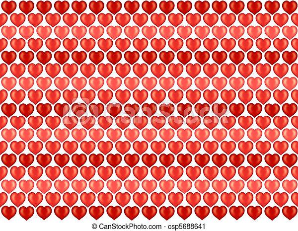 Hearts Pattern As Wallpaper