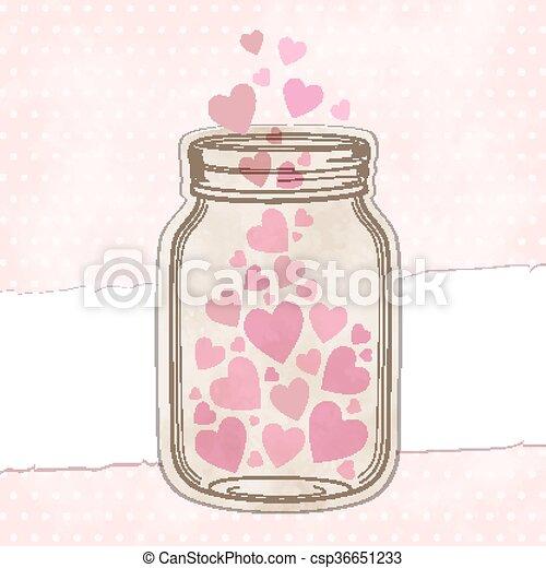 Hearts pink - csp36651233