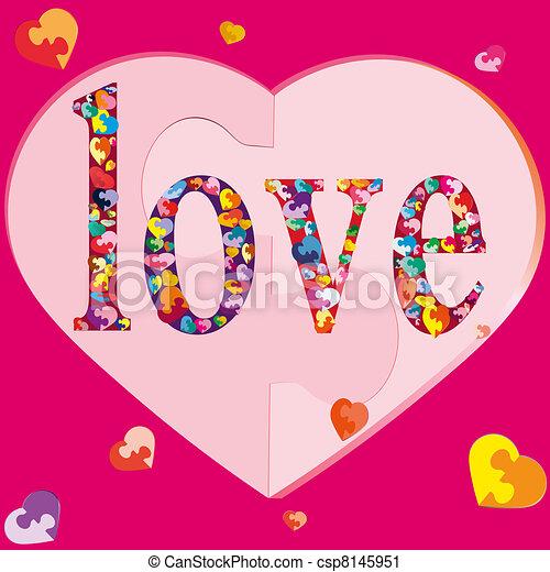 hearts-puzzles, simbolo, many-coloured - csp8145951